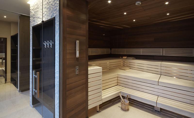 Hoteleigener Saunabereich im Hotel Verwall
