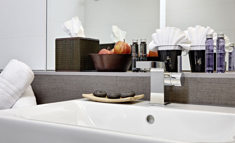 Edles Design im Badezimmer des Alpen-Karawanserai Time Design Hotel