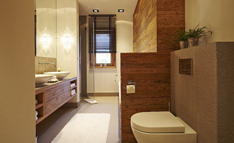 Luxuriöse Badezimmerausstattung- Chalet F, Ofterschwang
