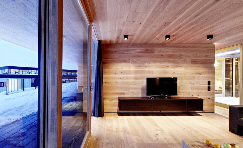 Chalet Smaragdjuwel- Der Wohnbereich verfügt über einen Flatscreen TV