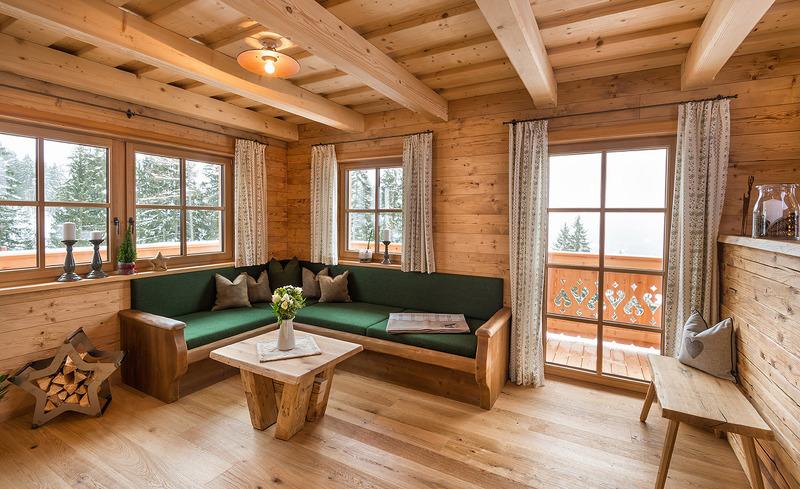 Wohnzimmer Prenner Alm Chalets - Urig & traditionell