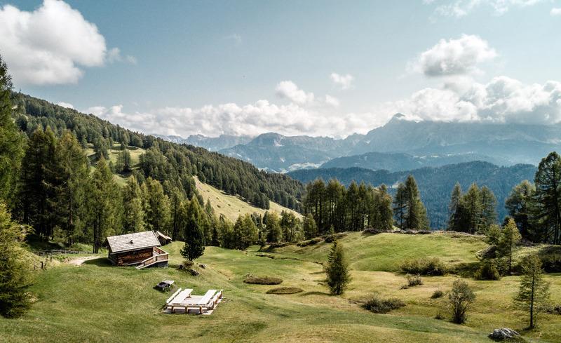 Atemberaubende Landschaft rund um die Chalets