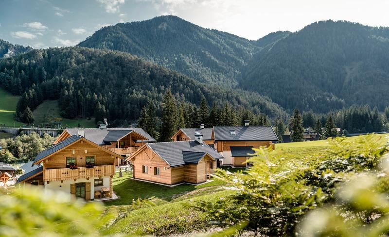 Atemberaubende Umgebung im Almdorf in St. Martin in Thurn