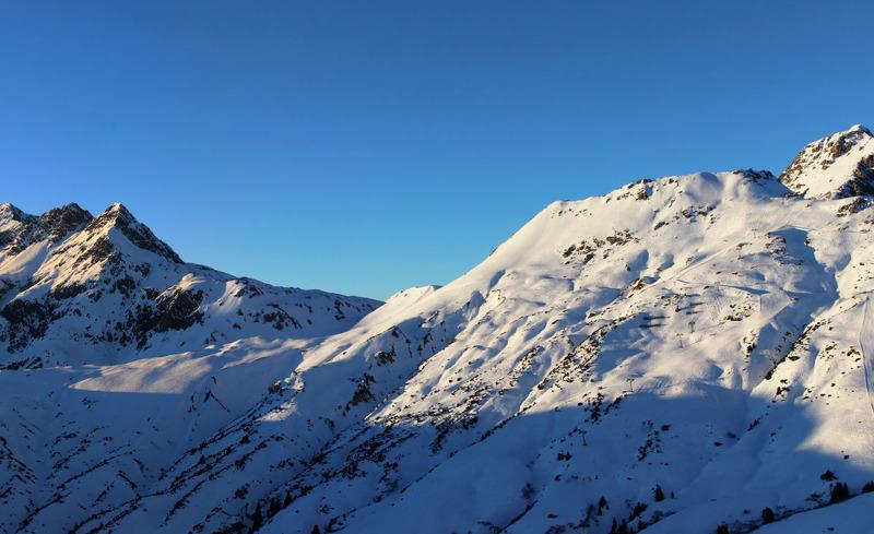 Die Rote Wand in Vorarlberg im Winter