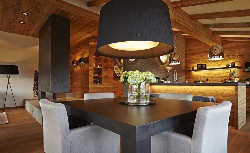 Chalet F- Der offene Wohn- und Essbereich bietet Platz zum Wohlfühlen und Genießen