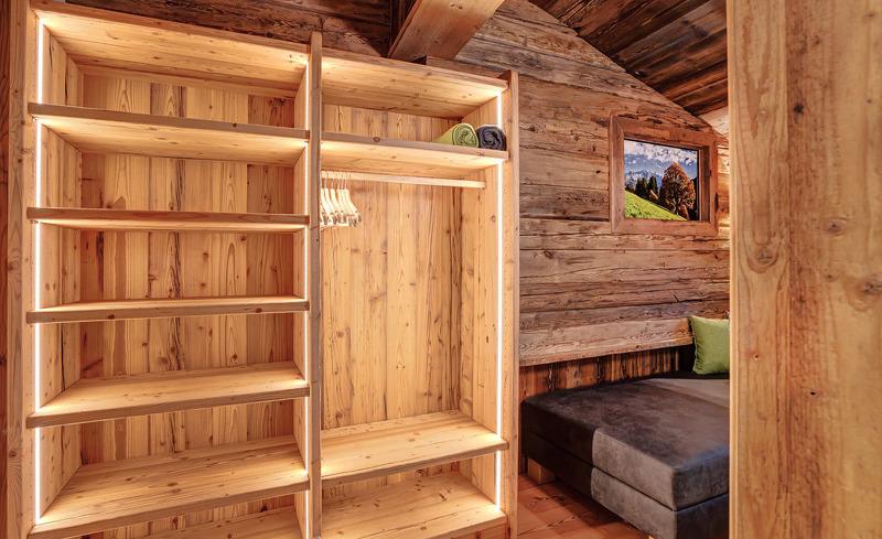 Viel Komfort und Stauraum im Highking Chalet Grünegg im Salzburger Land