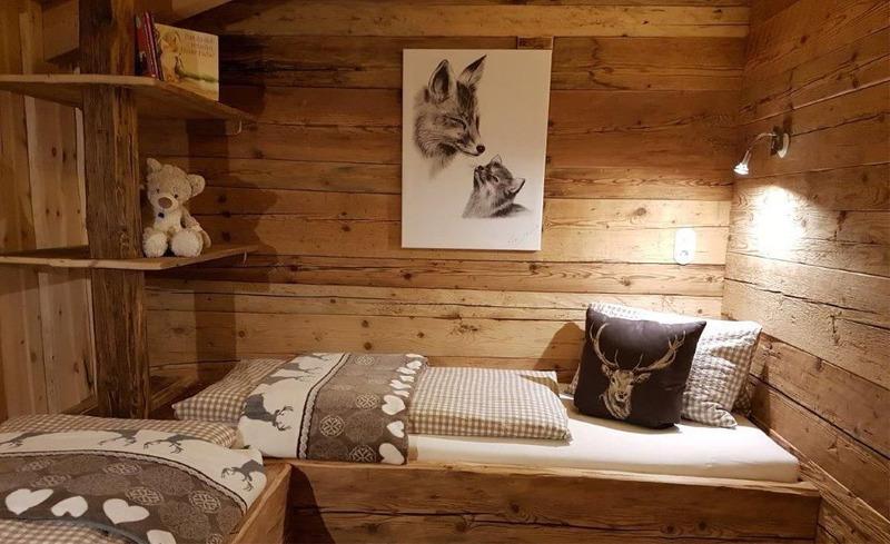 Viel Komfort und Platz für einen ruhigen Schlaf in den Schlafzimmern der Chalets Moll