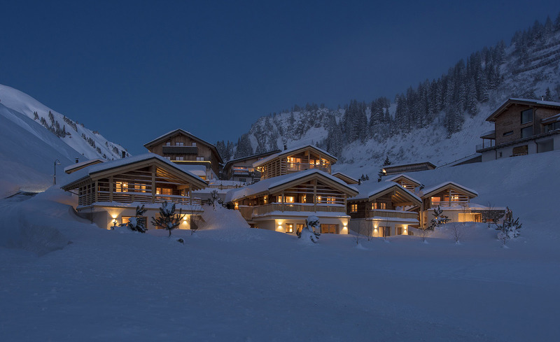 Winterurlaub am Arlberg in den Aadla Walser Chalets in Schröcken
