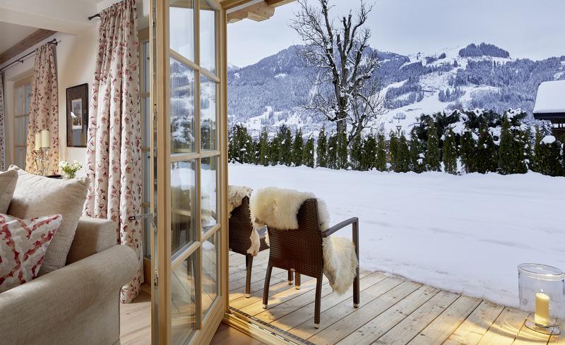 Private Terrasse des Luxus-Chalets Tennerhof