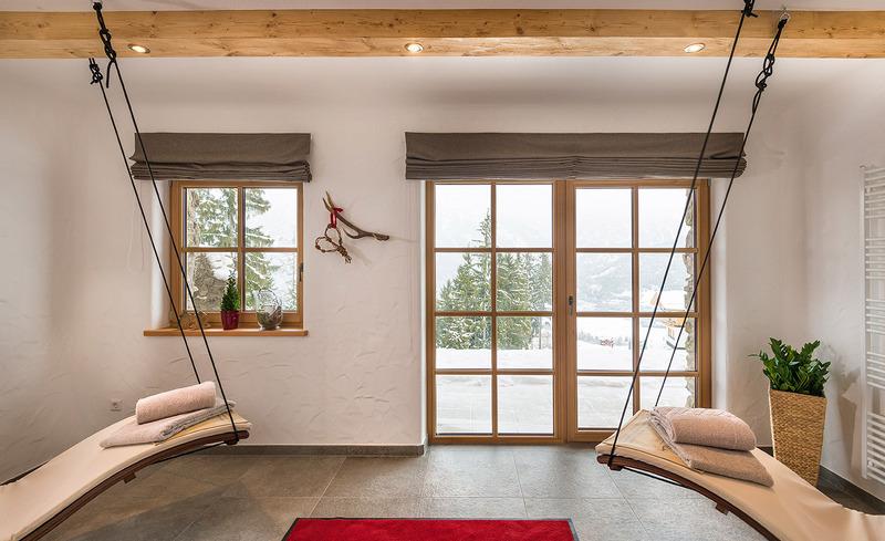 Privater Wellness-Bereich mit Hängeliegen & Sauna