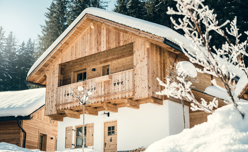 Das Chalet Braies im Winter