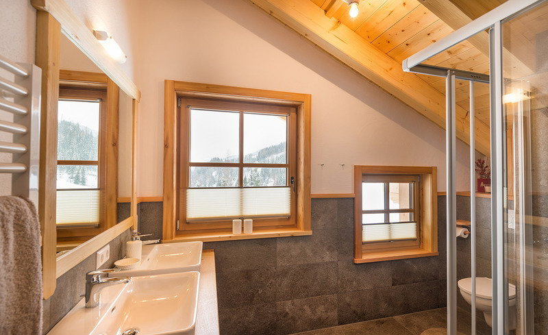 Badezimmer - Alm-Chalets Haus im Ennstal Steiermark