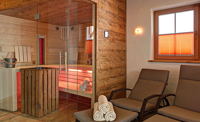 Der Wellnessbereich im CHALET4YOU lädt zum Entspannen und Relaxen ein