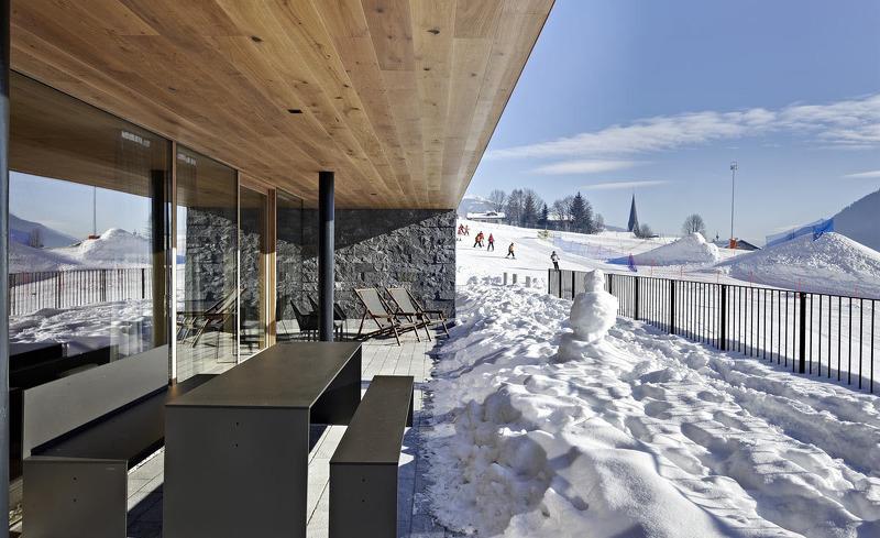 Terrasse mit herrlichem Panoramablick- Chalets Smaragdjuwel