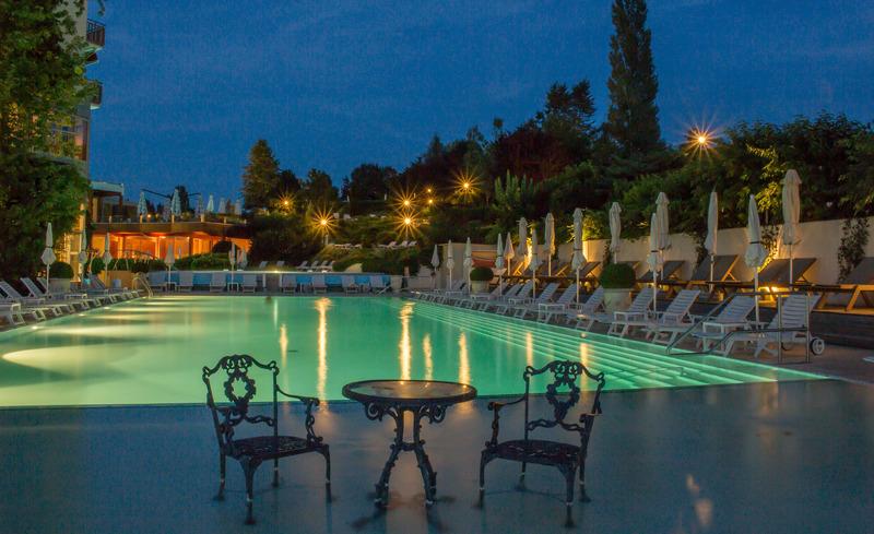 Nachtstimmung im Hotel Der Steierhof- © Hotel & Spa Der Steirerhof Bad Waltersdorf