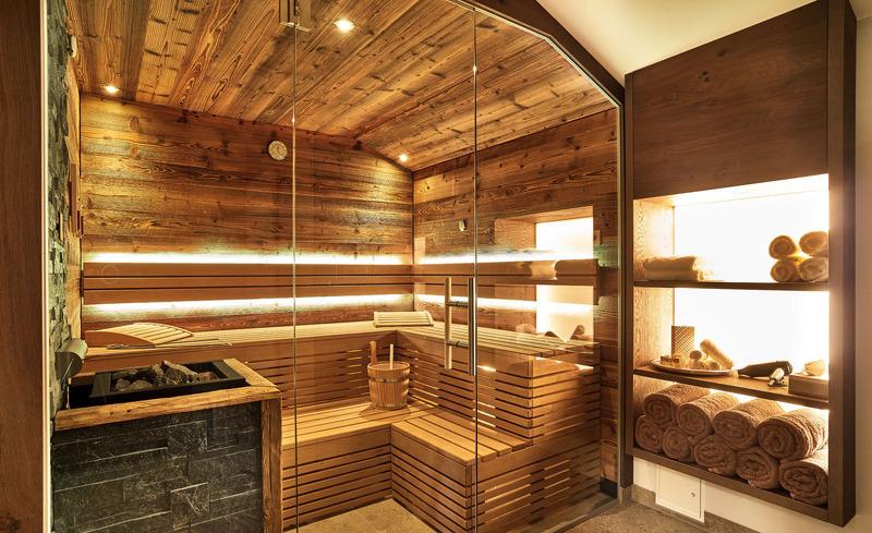 Das Luxus-Chalet verfügt über eine private Sauna zum Entspannen- Rosserer Wirt im Bayerischen Wald
