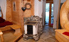 Offener und komfortabler Wohnbereich in den Chalets Moll in Tirol
