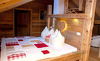 Komfortables Schlafzimmer in den Chalets Moll im Tannheimer Tal