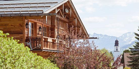Aussicht auf die traumhafte Allgäuer Alpenwelt im Chalet F in Ofterschwang