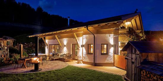 Außenansicht Luxus-Chalet Rossererwirt im Bayerischen Wald