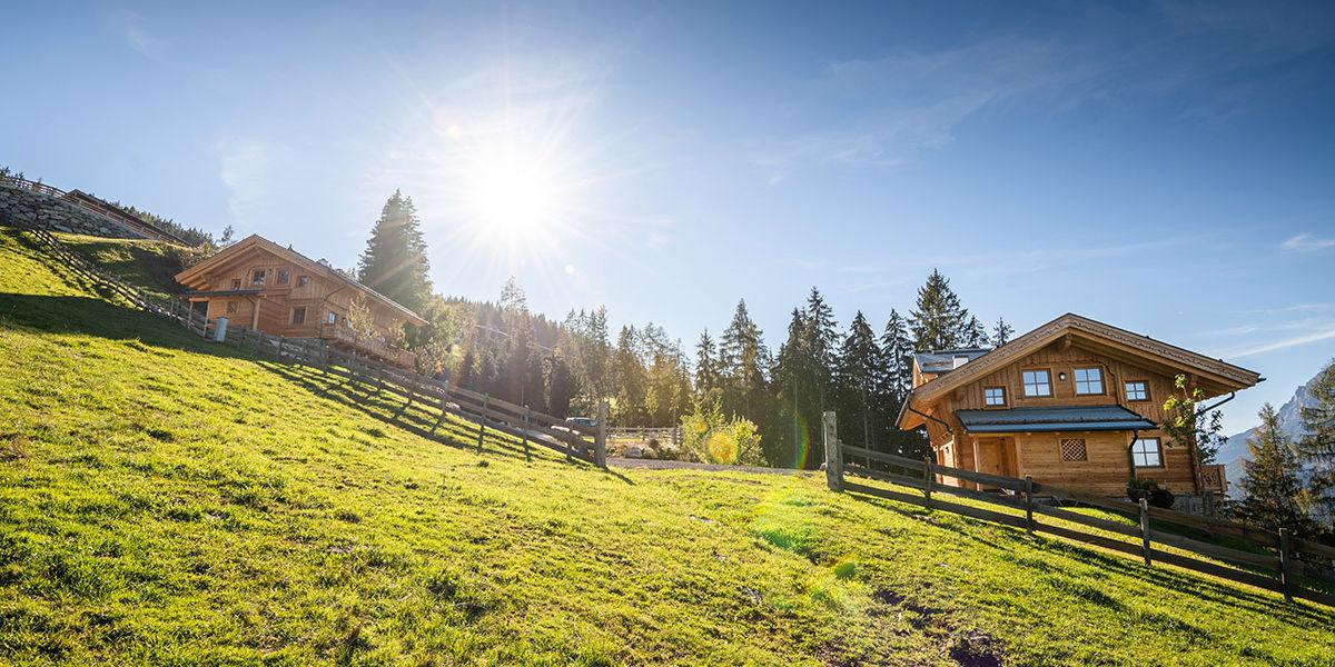 Die beiden Chalets auf der Prenner Alm - Steiermark