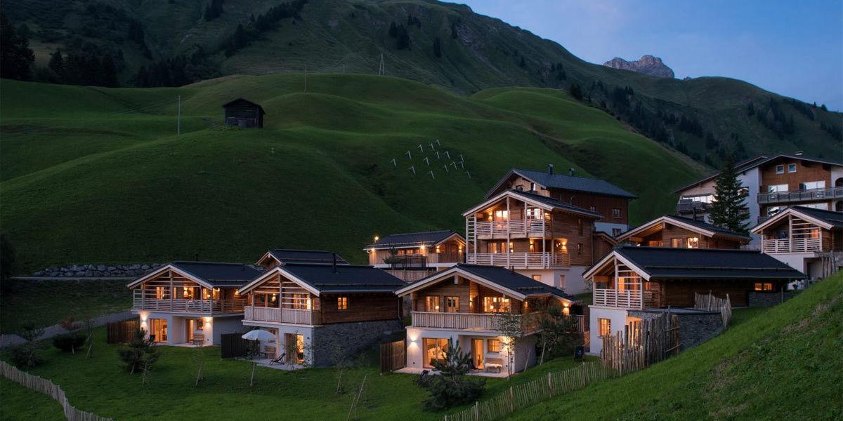 Urlaub im Chalet am Arlberg in den Aadla Chalets in Vorarlberg