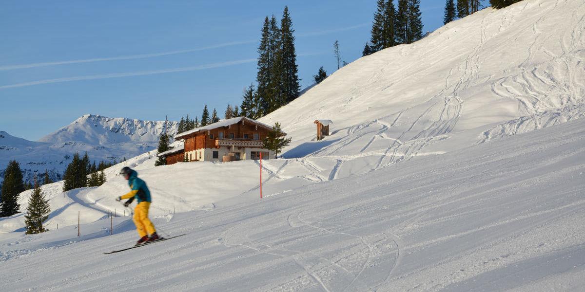 Die Wallegg Lodge in Salzburg direkt an der Piste der Skiregion Saalbach-Hinterglemm