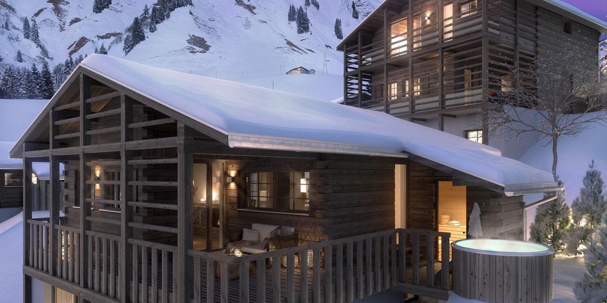 Das Aadla Walser Resort am Arlberg besteht aus 7 Chalets zur Alleinbenutzung